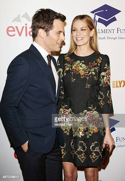 James Marsden and Michelle Monaghan arrive at the 20th Annual Fulfillment Fund Stars Benefit Gala held at The Beverly Hilton Hotel on October 14 2014...