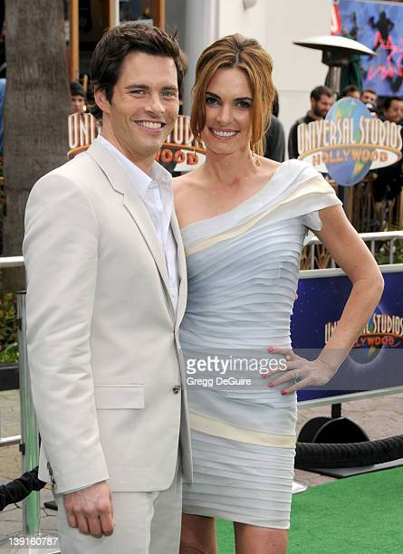 James Marsden and wife Lisa Linde arrive to the World Premiere of HOP at Universal Studios Hollywood on March 27 2011 in Universal City California