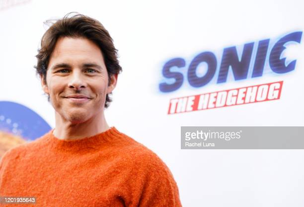 James Marsden attends Sonic The Hedgehog Family Day Event at the Paramount Theatre on January 25 2020 in Hollywood California