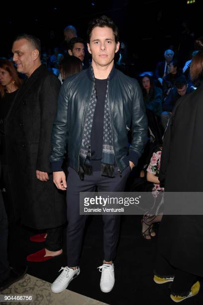 James Marsden attends the Dolce Gabbana show during Milan Men's Fashion Week Fall/Winter 2018/19 on January 13 2018 in Milan Italy