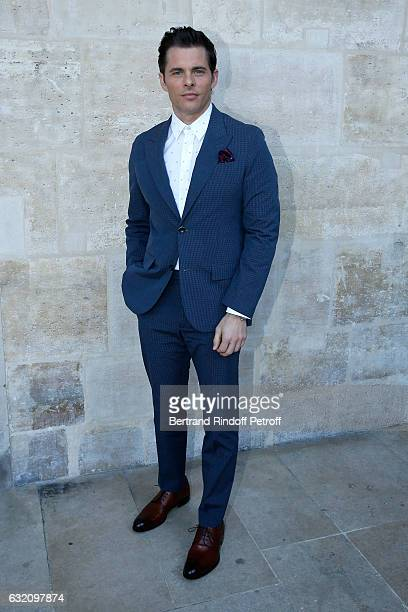 James Marsden attends the Louis Vuitton Menswear Fall/Winter 20172018 show as part of Paris Fashion Week Held at Palais Royal on January 19 2017 in...