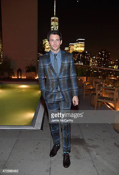 James Marsden attends the The Cinema Society Banana Boat Host The New York Premiere Of IFC Films' The D Train after party at Jimmy At The James Hotel...
