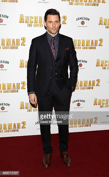 James Marsden attends the UK premiere of 'Anchorman 2 The Legend Continues' at the Vue West End on December 11 2013 in London England