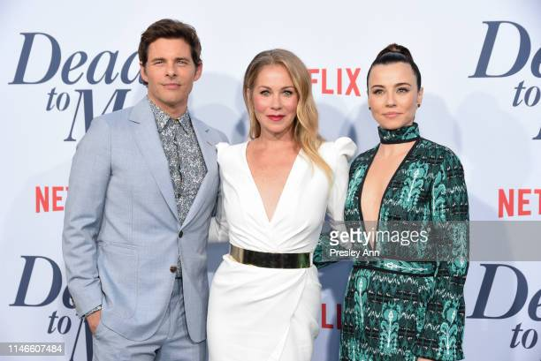 "James Marsden, Christina Applegate and Linda Cardellini attend Netflix's ""Dead To Me"" season 1 premiere at The Broad Stage on May 02, 2019 in Santa..."