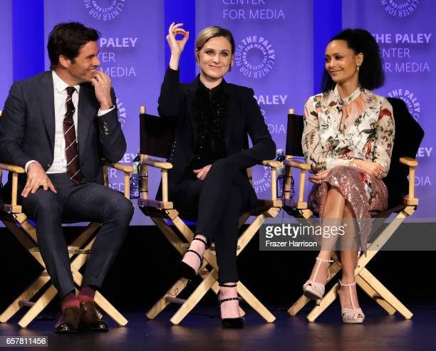 James Marsden Evan Rachel Wood Thandie Newton attend Westworld screnning and panel at The Paley Center For Media's 34th Annual PaleyFest Los Angeles...