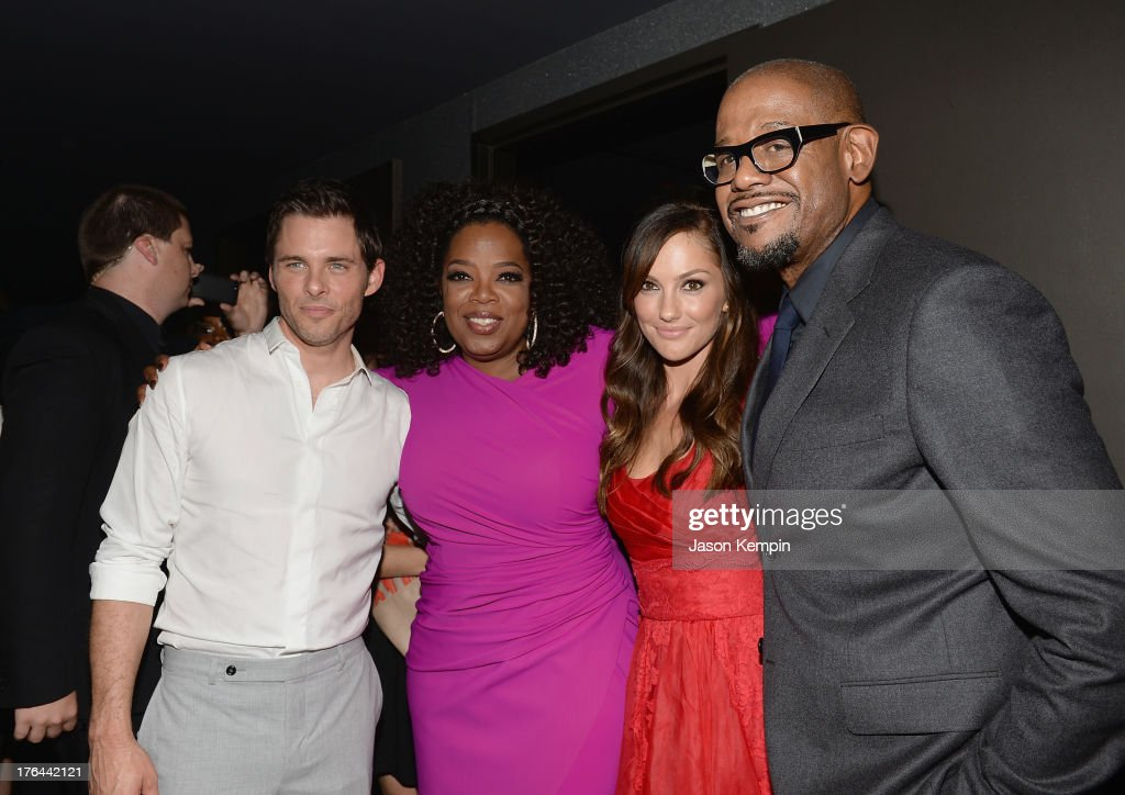 James Marsden, Oprah Winfrey, Minka Kelly and Forest Whitaker attend the Los Angeles premiere after-party of 'Lee Daniels' The Butler' at WP24 Restaurant and Lounge on August 12, 2013 in Los Angeles, California.