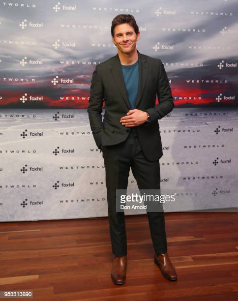 James Marsden poses at the Museum of Contemporary Art on May 1 2018 in Sydney Australia