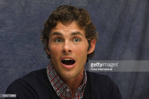James Marsden poses for a photo during a portrait session at the Four Seasons Hotel in Beverly Hills California on April 11 2010 Reproduction by...
