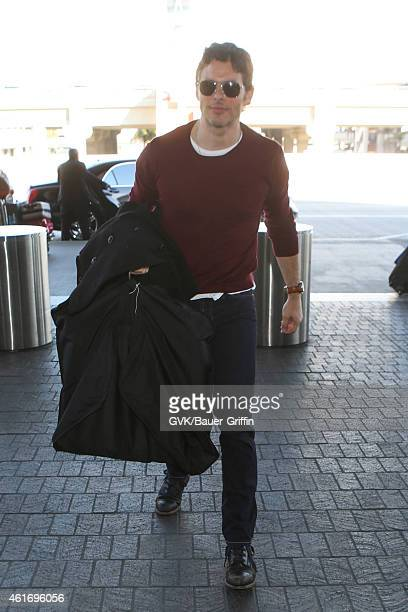 James Marsden seen at LAX on January 17 2015 in Los Angeles California