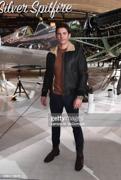 James Marsden visits the IWC booth during the Maison's launch of its new Pilot's Watches at the Salon International de la Haute Horlogerie on January...