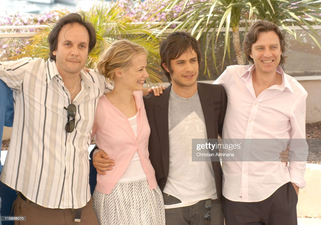James Marsh, Pell James and Gael Garcia Bernal during 2005 Cannes Film Festival - 'The King' Photocall in Cannes, France.