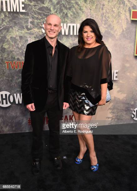 James Marshall and Rebekah Del Rio attend the premiere of Showtime's 'Twin Peaks' at The Theatre at Ace Hotel on May 19 2017 in Los Angeles California