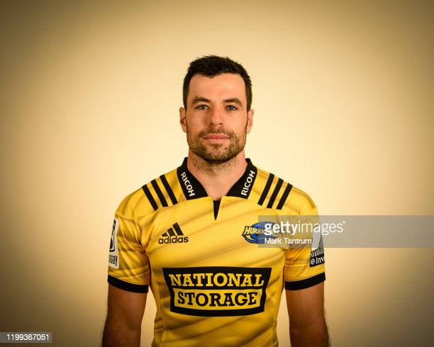 James Marshall poses during a Hurricanes Super Rugby headshots session on February 01 2019 in Wellington New Zealand