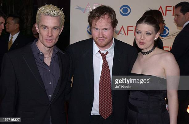 James Marsters Joss Whedon Amber Benson during AFI Awards 2002 in Beverly Hills CA United States
