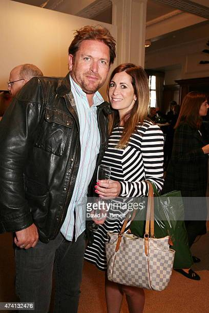 James Martin and friend attend the Art15 Preview Night Freedom Audit Exhibition at Kensington Olympia on May 20 2015 in London United Kingdom