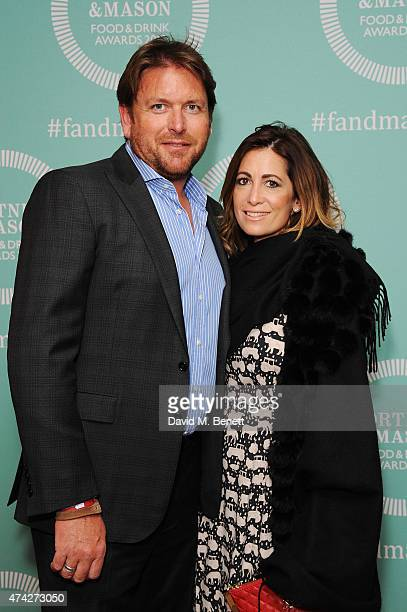 James Martin and guest attend the third annual Fortnum Mason Food Drink Awards 2015 on May 21 2015 in London England The awards celebrate the best in...
