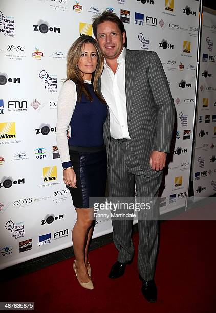 James Martin and Louise Davies attend ZOOM a Formula 1 photographic charity auction in aid of Great Ormond Street at InterContinental Park Lane Hotel...