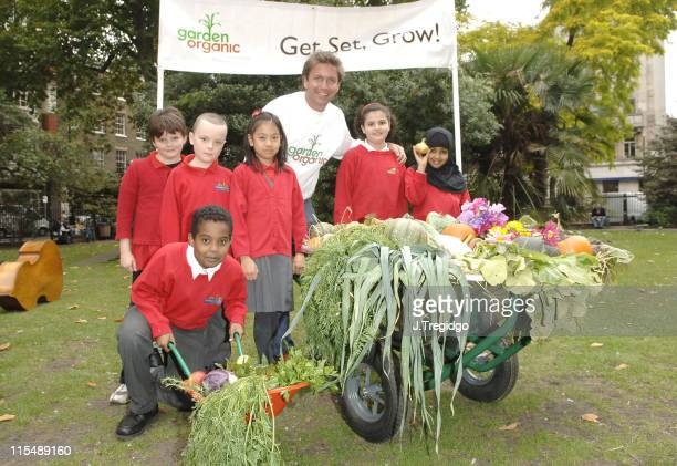 James Martin and pupils from Normand Croft Community School in Fulham