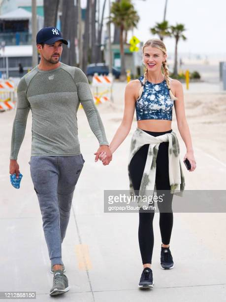 James Maslow and Caitlin Spears are seen on May 12, 2020 in Los Angeles, California.