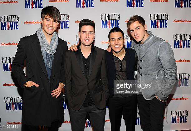 James Maslow Logan Henderson Carlos Pena Jr and Kendall Schmidt of Big Time Rush attend Nickelodeon Hosts Orange Carpet Premiere For Original TV...
