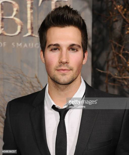 James Maslow of Big Time Rush attends the premiere of 'The Hobbit The Desolation Of Smaug' at TCL Chinese Theatre on December 2 2013 in Hollywood...