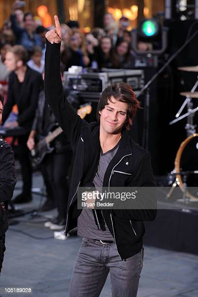 James Maslow of Nickelodeon's Big Time Rush performs on the Today Show at Rockefeller Center on October 11 2010 in New York City