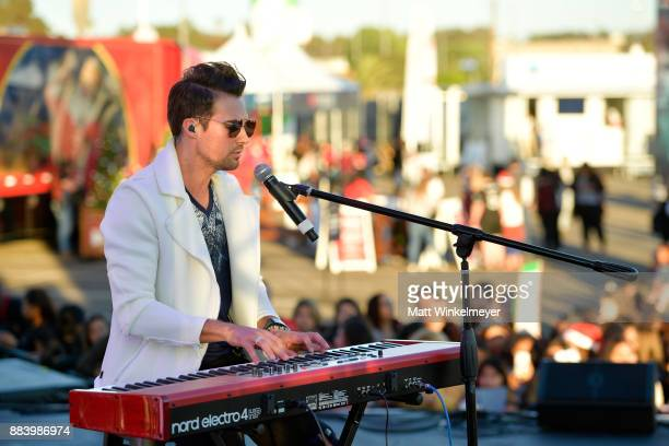 James Maslow performs onstage at 1027 KIIS FM's Jingle Ball Village at KIIS FM's Jingle Ball 2017 presented by Capital One preshow at The Forum on...