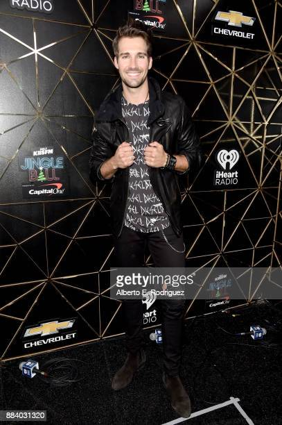 James Maslow poses in the press room during 1027 KIIS FM's Jingle Ball 2017 presented by Capital One at The Forum on December 1 2017 in Inglewood...