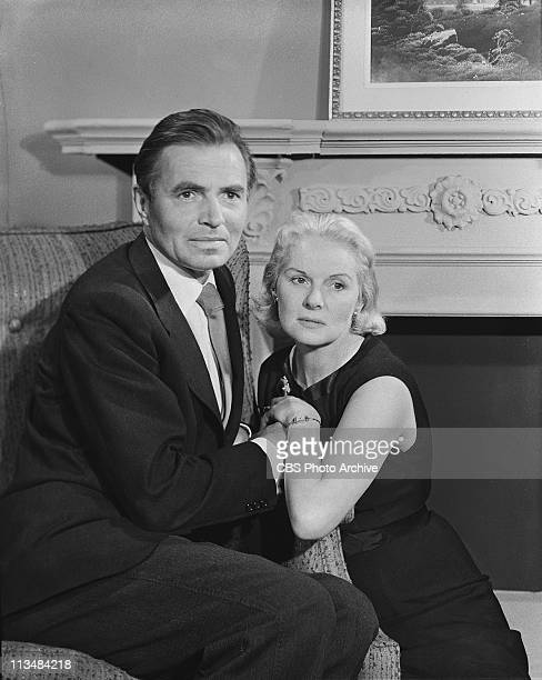 James Mason and Ann Todd in 'Not The Glory' on PLAYHOUSE 90 Image dated April 11958