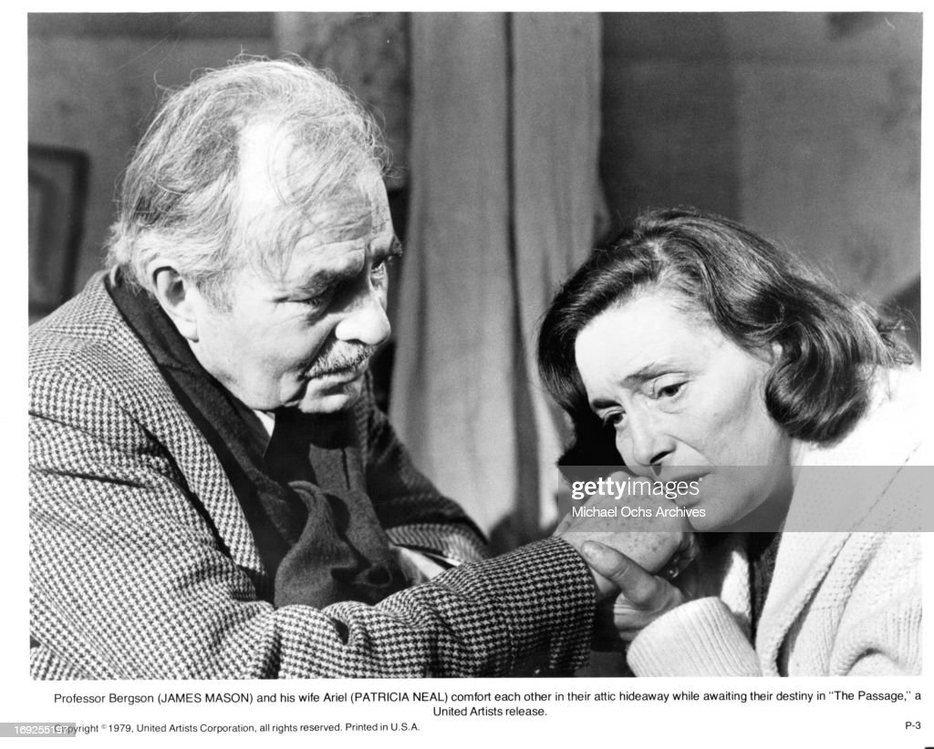 James Mason Comforts Patricia Neal In A Scene From The Film The