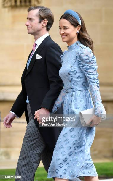 James Matthews and Pippa Middleton attend the wedding of Lady Gabriella Windsor and Thomas Kingston at St George's Chapel on May 18 2019 in Windsor...