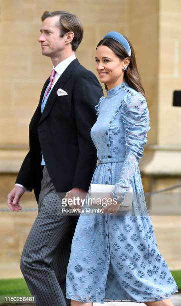 James Matthews and Pippa Middleton attend the wedding of Lady Gabriella Windsor and Thomas Kingston at St George's Chapel on May 18, 2019 in Windsor,...