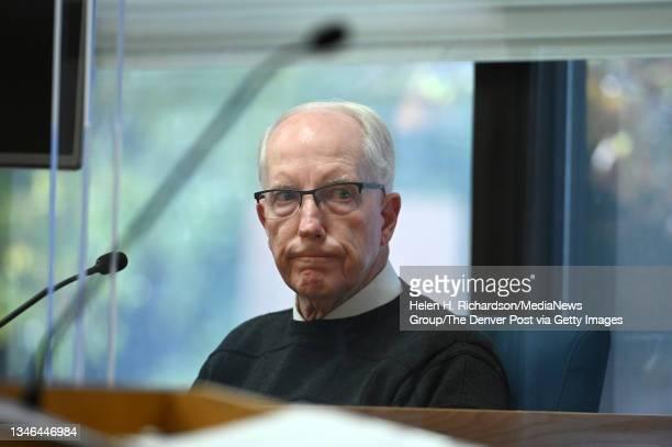 James Matthews, father of murder victim Jonelle Matthews, looks towards accused murderer Steven Pankey during opening arguments in the trial of...