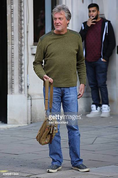 James May seen leaving the Absolute radio studio's on October 10 2014 in London England