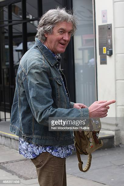 James May seen outside the Charlotte Street Hotel on April 2 2015 in London England
