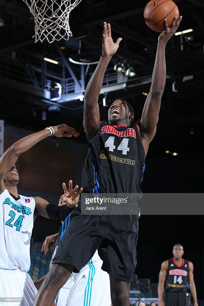 James Mays #44 of the Springfield Armor shoots the ball against the Sioux Falls Skyforce during the 2013 NBA D-League Showcase on January 9, 2013 at the Reno Events Center in Reno, Nevada.