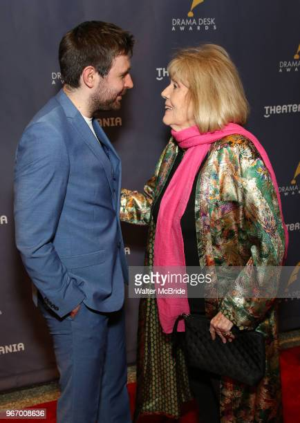 James McArdle and Diana Rigg during the arrivals for the 2018 Drama Desk Awards at Town Hall on June 3 2018 in New York City