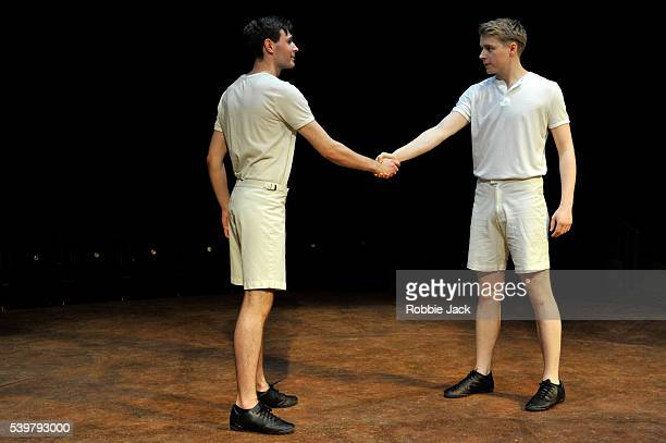 James McArdle as Harold Abrahams and Jack Lowden as Eric Liddell in Mike Bartlett's Chariots of Fire directed by Edward Hall at the Hampstead Theatre...