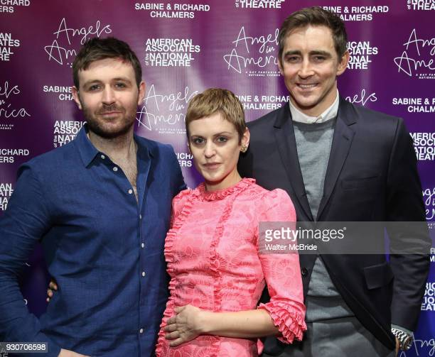 James McArdle Denise Gough and Lee Pace attend The American Associates of the National Theatre's Gala celebrating Tony Kushner's 'Angels in America'...