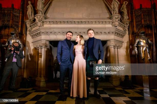 James McArdle Saoirse Ronan and Jack Lowden attend Scotland's Premiere of Mary Queen of Scots on January 14 2019 in Edinburgh Scotland