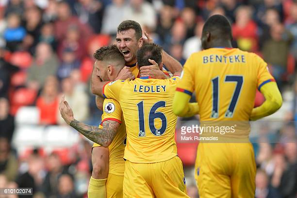 James McArthur of Crystal Palace celebrates scoring his sides second goal during the Premier League match between Sunderland and Crystal Palace at...