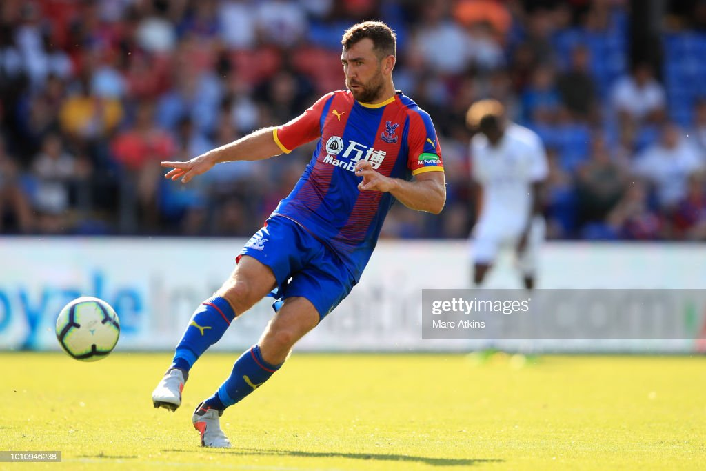 James McArthur of Crystal Palace during the Pre-Season Friendly between Crystal Palace and Toulouse at Selhurst Park on August 4, 2018 in London, England.