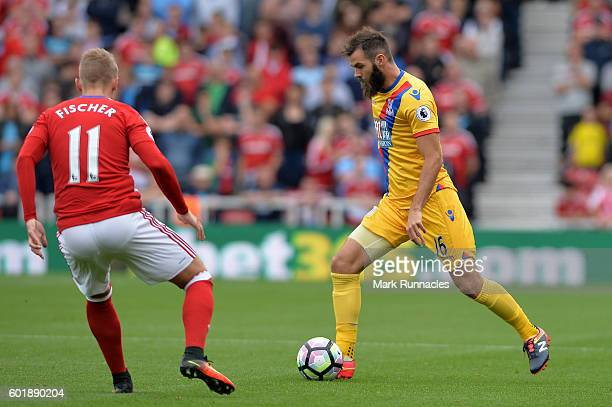 James McArthur of Crystal Palace in action during the Premier League match between Middlesbrough and Crystal Palace at Riverside Stadium on September...