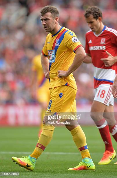 James McArthur of Crystal Palace in action during the Premier League match between Middlesbrough FC and Crystal Palace FC at Riverside Stadium on...