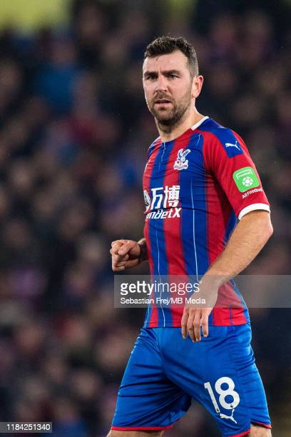James McArthur of Crystal Palace looks on during the Premier League match between Crystal Palace and Liverpool FC at Selhurst Park on November 23...