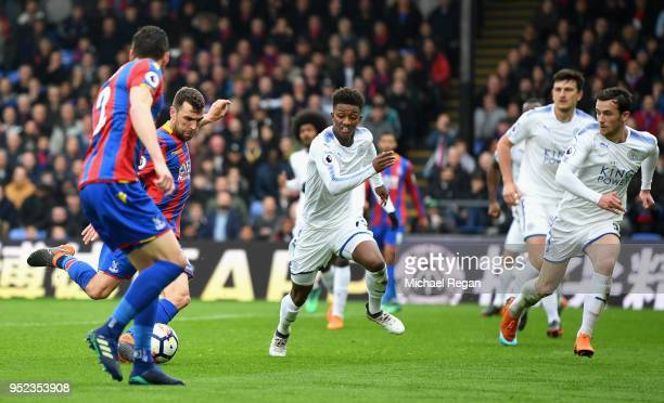 James McArthur of Crystal Palace scores his sides second goal during the Premier League match between Crystal Palace and Leicester City at Selhurst...