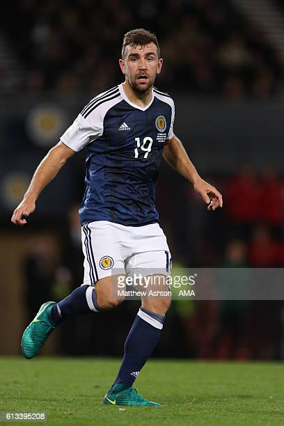 James McArthur of Scotland during the FIFA 2018 World Cup Qualifier between Scotland and Lithuania at Hampden Park on October 8 2016 in Glasgow...