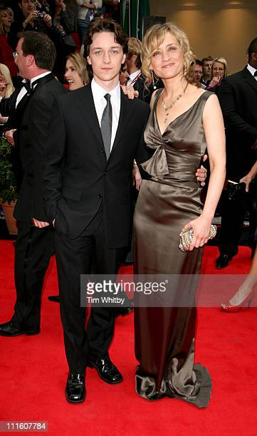James McAvoy and Anne Marie Duff during The 2006 British Academy Television Awards Arrivals at Grosvenor House in London Great Britain