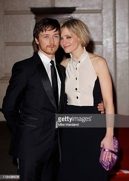 James McAvoy and AnneMarie Duff arrive at the Orange British Academy Film Awards 2008 held at the Royal Opera House on February 10 2008 in London...