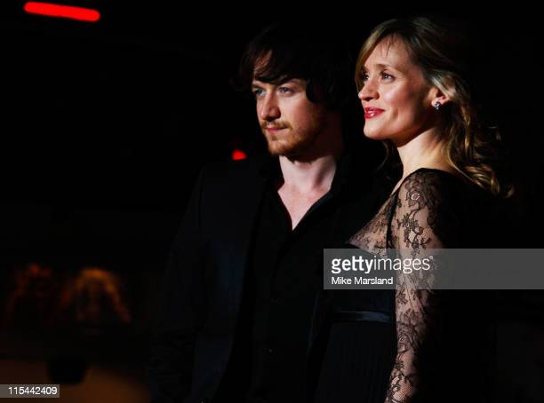 James McAvoy and AnneMarie Duff arrive at the UK Premiere The Last Station at the The Curzon Mayfair on January 26 2009 in London England